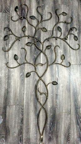 Cuier copac Fier forjat autentic.