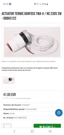 Danfos  Actuator termic  088H3122