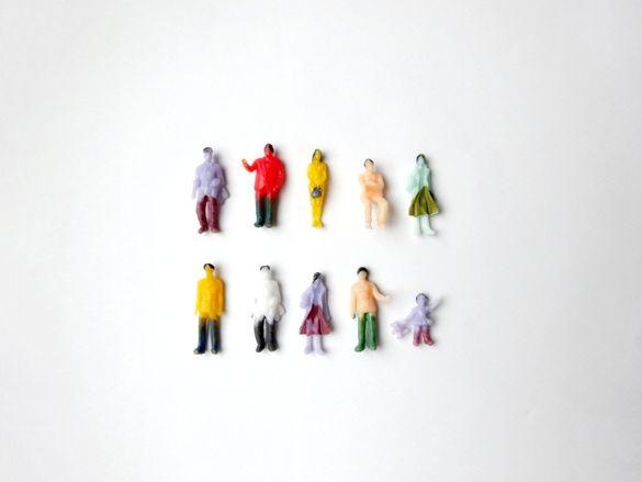Архитектурни фигурки на хора (10бр.) - мащаб 1:100 / 1:200
