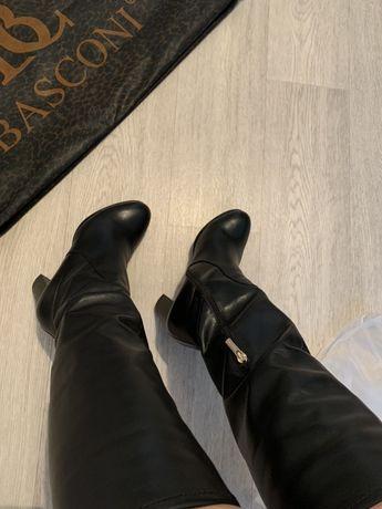Зимние кожаные сапоги Basconi