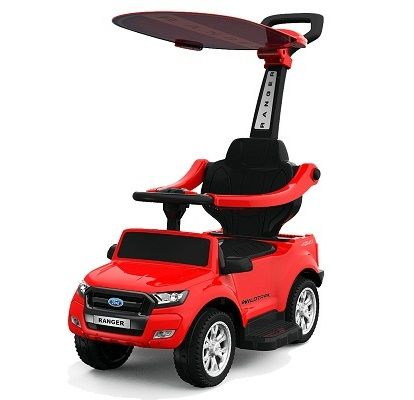 Masinuta electrica cu maner Ford Ranger 3 in 1 6V 25W Parasolar #Rosu