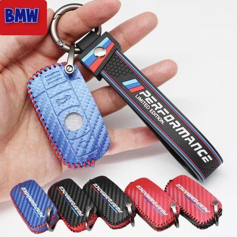 Кожен калъф за ключ BMW E90 E92 E60 E70 E87 3 5 6 M3 M5 X1 X5 X6 Z4