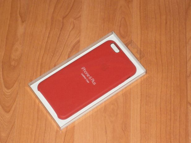 Apple iPhone 6 /6s Plus (MGQY2ZM/A) Bright Red , piele naturala rosie