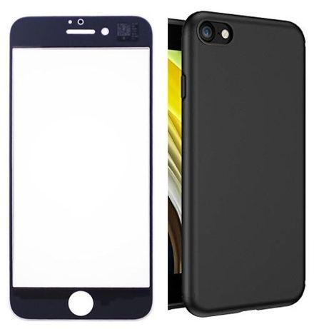 Iphone SE 2020 7 7+ 8 8+ Pachet Husa Silicon + Folie Sticla Curbata 11