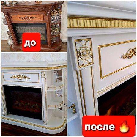 Реставрация Покраска Перекраска ФасадовКорпуснойМебели и МягкойМебели