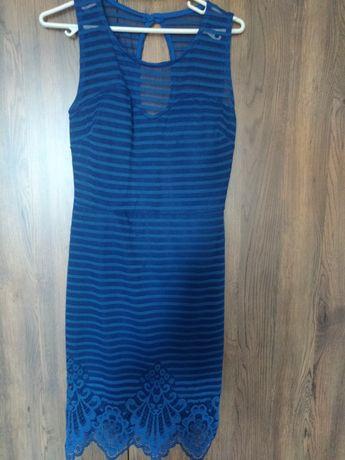 Дантелена рокля в турско синьо
