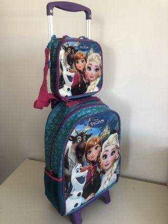 Школный комплект (чемодан на колесиках) с сумкой для ланч бокса