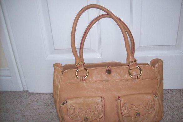 Butterfly оригинална чанта от естествена кожа като НОВА