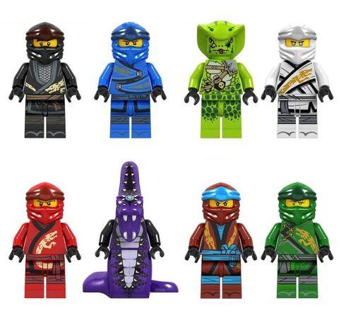 Set 8 Minifigurine tip Lego Ninjago sezon 10 Legacy cu Pythor si Lasha