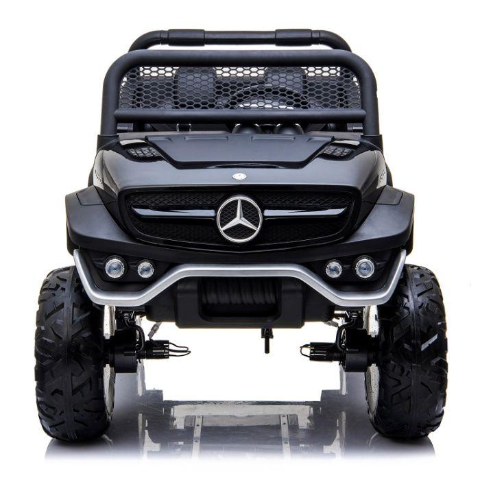 Masinuta electrica Kinderauto Mercedes UNIMOG 4x4 PREMIUM #Negru Constanta - imagine 1