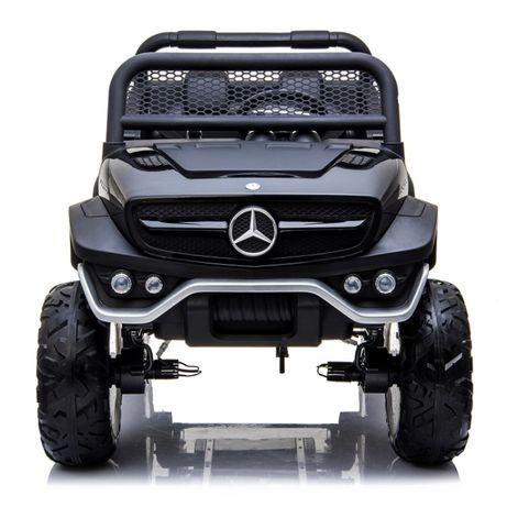 Masinuta electrica Kinderauto Mercedes UNIMOG 4x4 XXL PREMIUM #Negru
