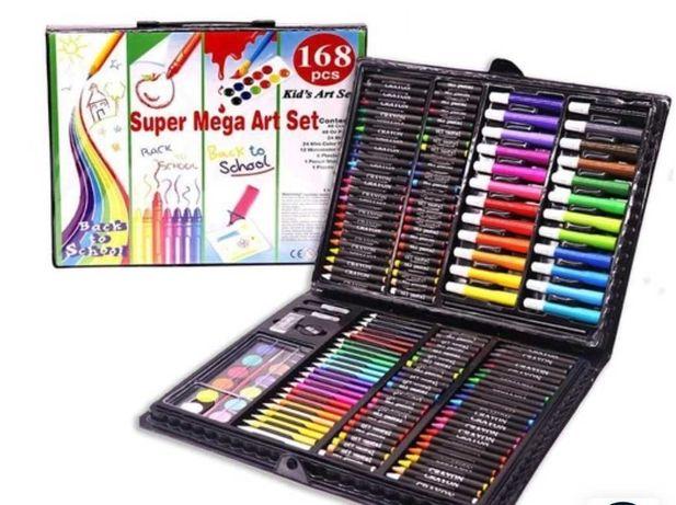 """Набор для рисования """" набор юного художника"""", 168 предметов, черный"""