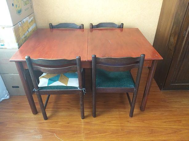 Советский стол с 6 стульями