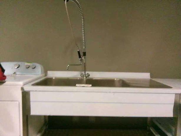 Chiuveta,spalator,lavoar profe sional inox 140x70cm 2 cuve  restaurant