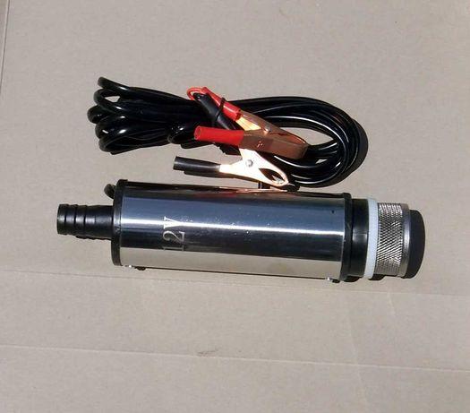 Насос для перекачки солярки, воды работает от аккумулятора 12В. Новый.