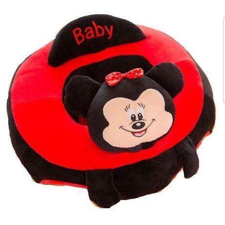 Fotoliu din plus pentru bebe,Minnie si Micky Mouse
