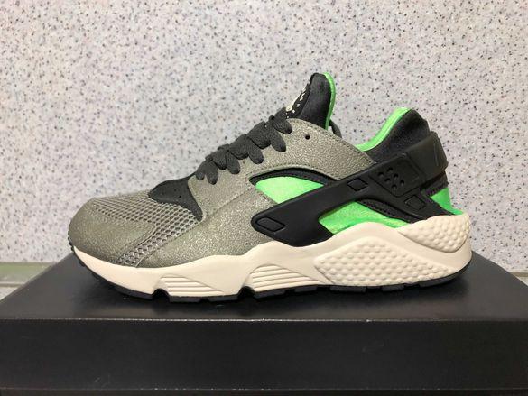 ОРИГИНАЛНИ *** Nike Air Huarache Run /  Mine Fog Black Green Grey