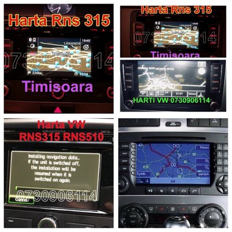 DVD SD Harti VW RNS315 510 PASSAT, Golf Mercedes NTG CLASA C ML E CLS