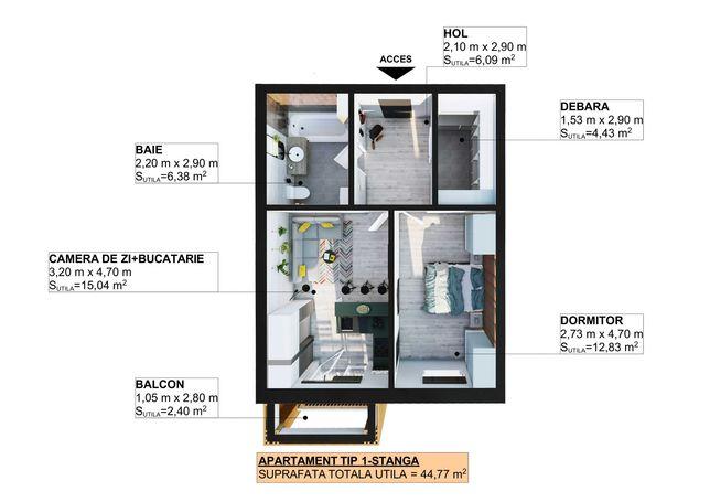 Apartamente in Apahida de la 25000€
