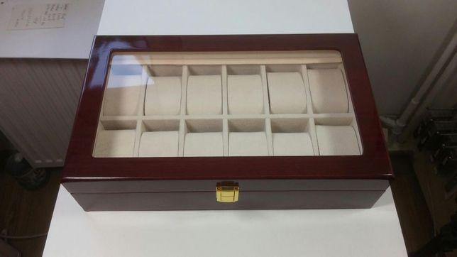 Cutie depozitare 12 ceasuri - LEMN Cutie de lemn 12 ceasuri