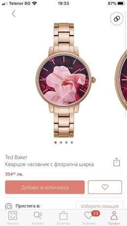 Кварцов часовник Ted Baker с флорални мотиви