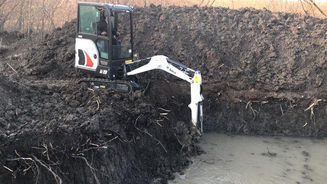 Închiriez miniexcavator Bobcat E19, miniescavator, excavatoare
