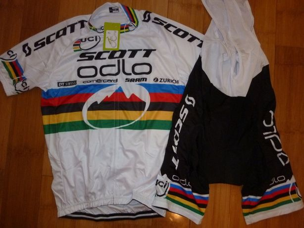 Echipament ciclism SCOTT Odlo Mtb World Champion NINO Schurter set nou