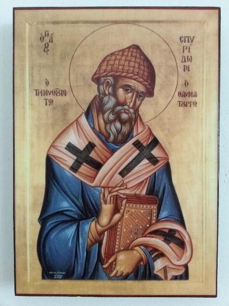 Икона на Свети Спиридон icona Sveti Spiridon гр. Пловдив - image 1