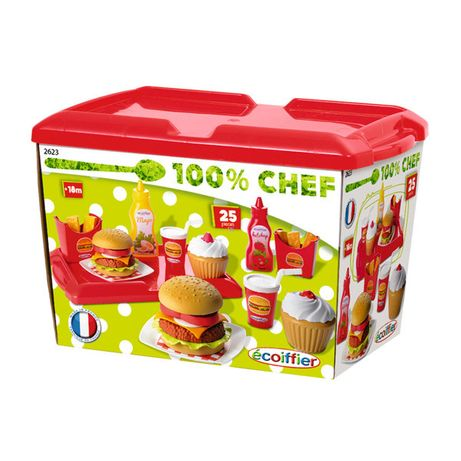 Set de joaca Ecoiffier Fast Food, 36 piese
