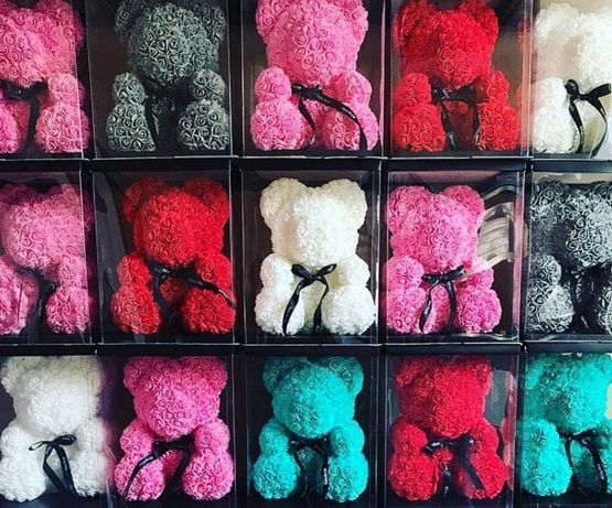 Мишки из 3 D роз ручной работы, не Китай.