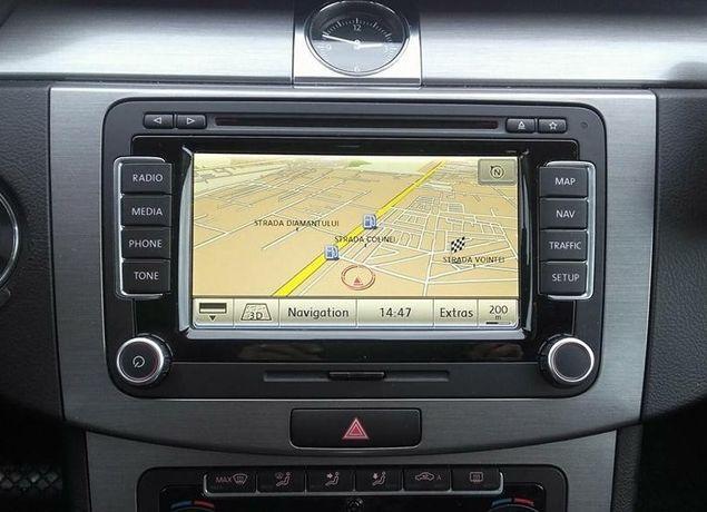 VW PASSAT CC RNS 510 RNS 810 Dvd navigatie harti VW SKODA GPS 2021