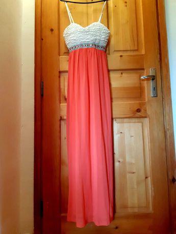 Официална дълга рокля с бюстие и презрамки XL, XXL