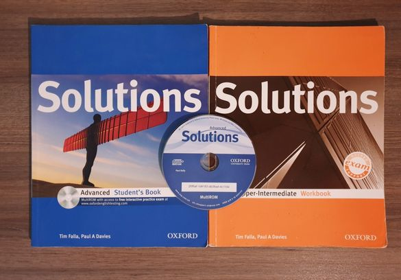 Solutions Advanced OXFORD учебник и учебна тетрадка + диск