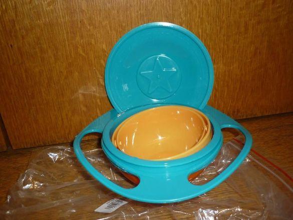 Неразливаща се детска купа за хранене, която не се обръща - Gyro Bowl