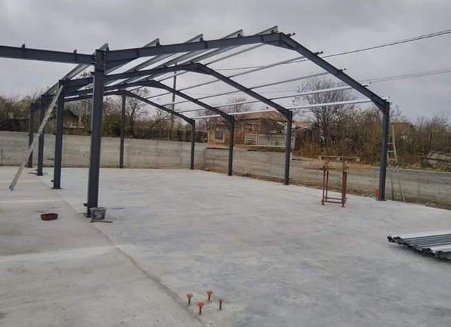 Vand structură metalică cu platforma betonata