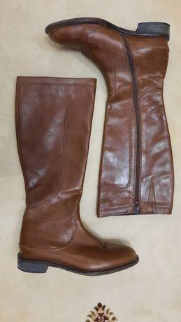 Итальянские кожаные демисезонные сапоги Vero Cuoio