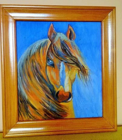 нова картина платно с маслени бои рамка липа