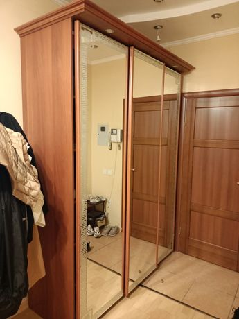 Шкаф купе для прихожей с зеркальными дверями