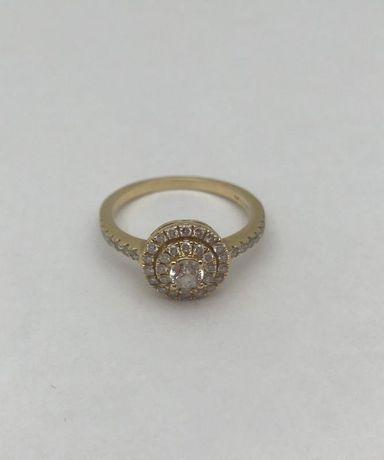 Кольцо с бриллиантами, золото 750 (18K), вес 3.70 г. «Ломбард Белый»