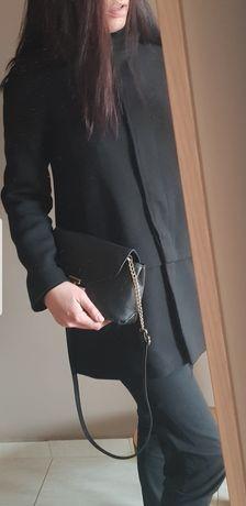 Зара Zara стилно дамско палто в черно М