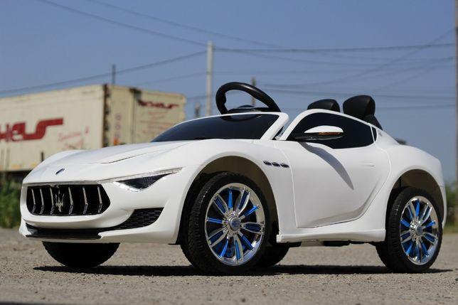 Masinuta electrica pentru copii Maserati Alfieri 12V CU LED #Alb