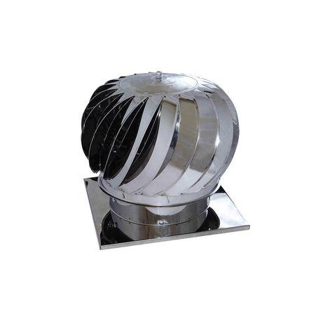 Palarie cos fum cu talpa (terminal rotativ)-turbina eoliana inox