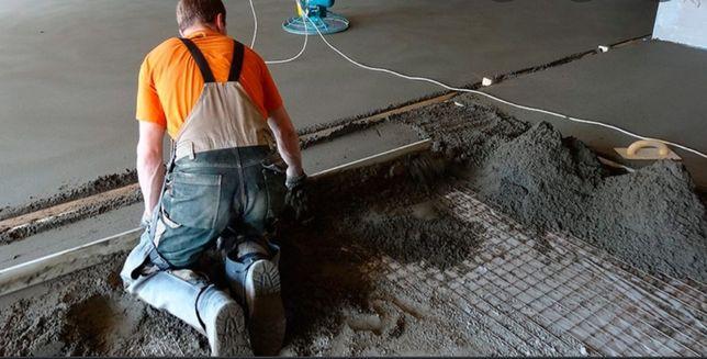 Строительные бригада Заборный бетон. СТЯЖКИ. Кафель