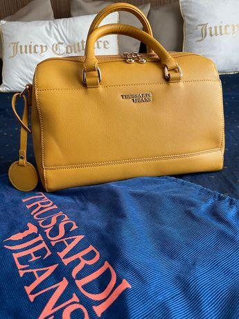 Чанта Trussardi Jeans жълта