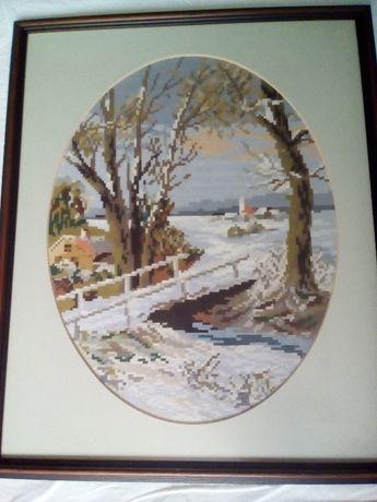 Гоблен - Вилер - Зимен пейзаж