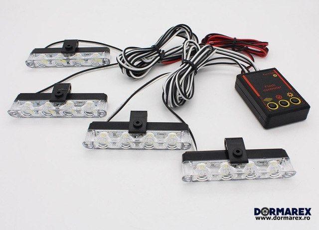 Stroboscoape auto LED grila rosu albastru - Stroboscop politie Bucuresti - imagine 1