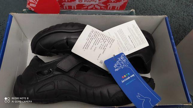 Новый подростковый обувь. Кожа. 37 размер.