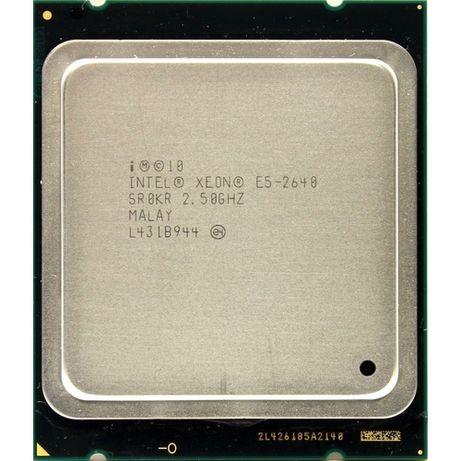 Процесор CPU Intel XEON E5-2640 6/12 core шестядрен 2011 15MB CACHE