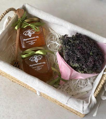 ЭКО Подарки, 100 % натуральный сырой мёд, букеты из горных трав!