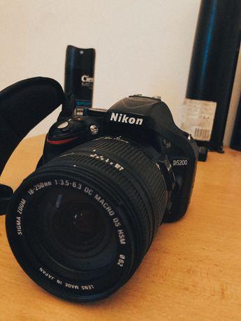 Nikon d5200+sigma 18-250 mm